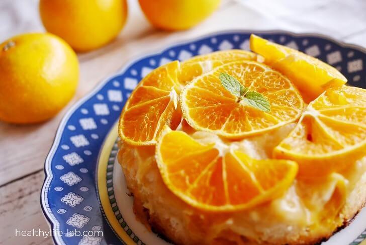 早生みかんケーキの写真