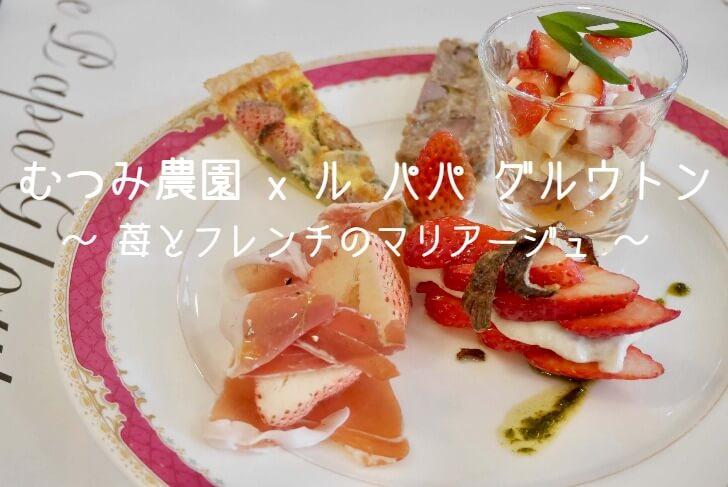 むつみ農園×ル パパ グルウトン ~ 苺とフレンチのマリアージュのヘッダー写真~